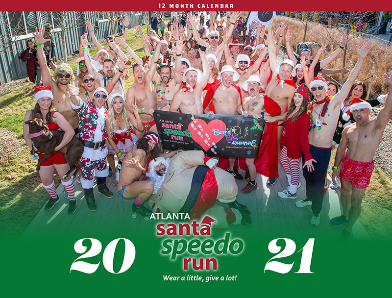 2021 Atlanta Santa Speedo Run Calendar